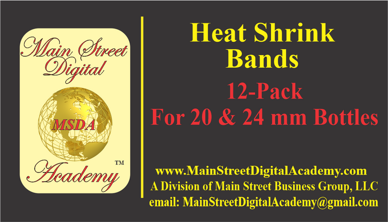 Heat Shrink Bands- Package of 12