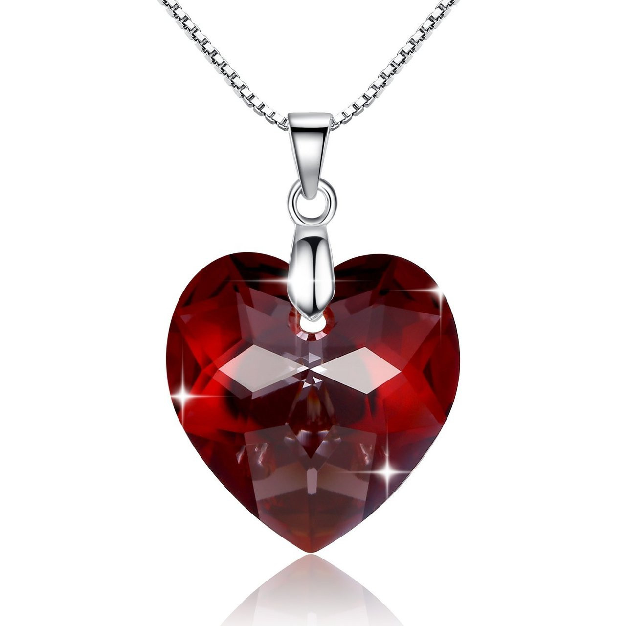 6d760d1aa ... Sterling Silver Necklace Made from Genuine Swarovski Elements ·  Red_Heart_925_Sterling_Silver_Necklace_Made_from_Genuine_Swarovski_Elements_6215_18mm