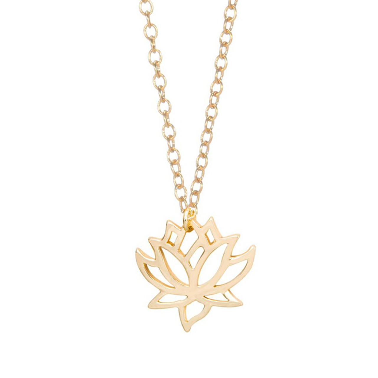 5b42b9011e419f Gold Plated Lotus Flower Necklace. Home · Necklaces · Gold Plated Lotus  Flower Necklace ·  UrbanSHe_gold_plated_lotus_flower_necklace_fashion_jewellery