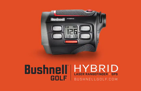 Bushnell Golf Hybrid laser rangefinder + GPS video thumbnail.