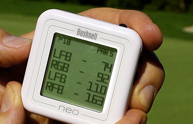 Bushnell Golf Neo Ghost handheld GPS video thumbnail.