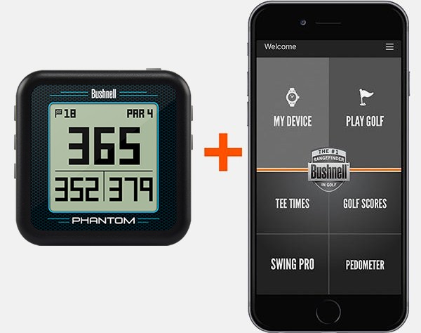 Connect the Phantom handheld GPS to the Bushnell Golf app for optimal usage & over 35,000 courses