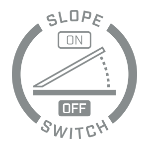 Bushnell Golf Pro X2 slope edition on-and-off switch icon.