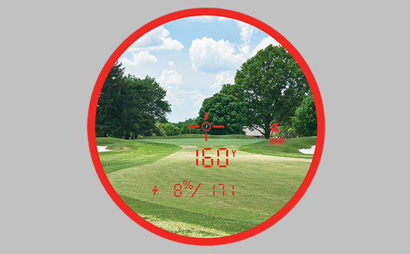 Bushnell Golf laser rangefinders with flag-locking visual jolt technology.
