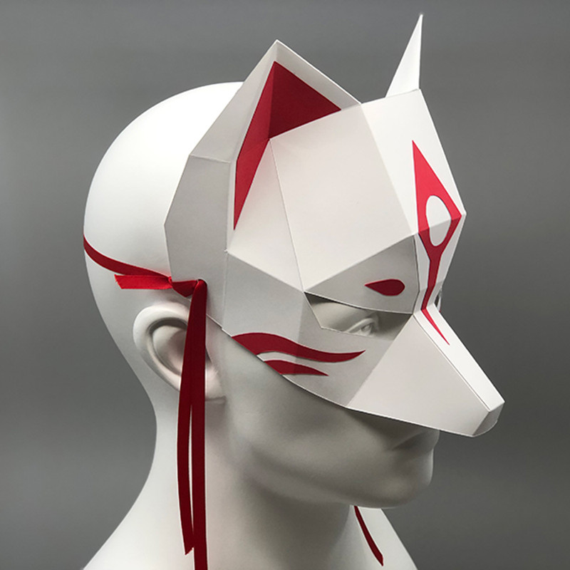 Kitsune - Half Mask