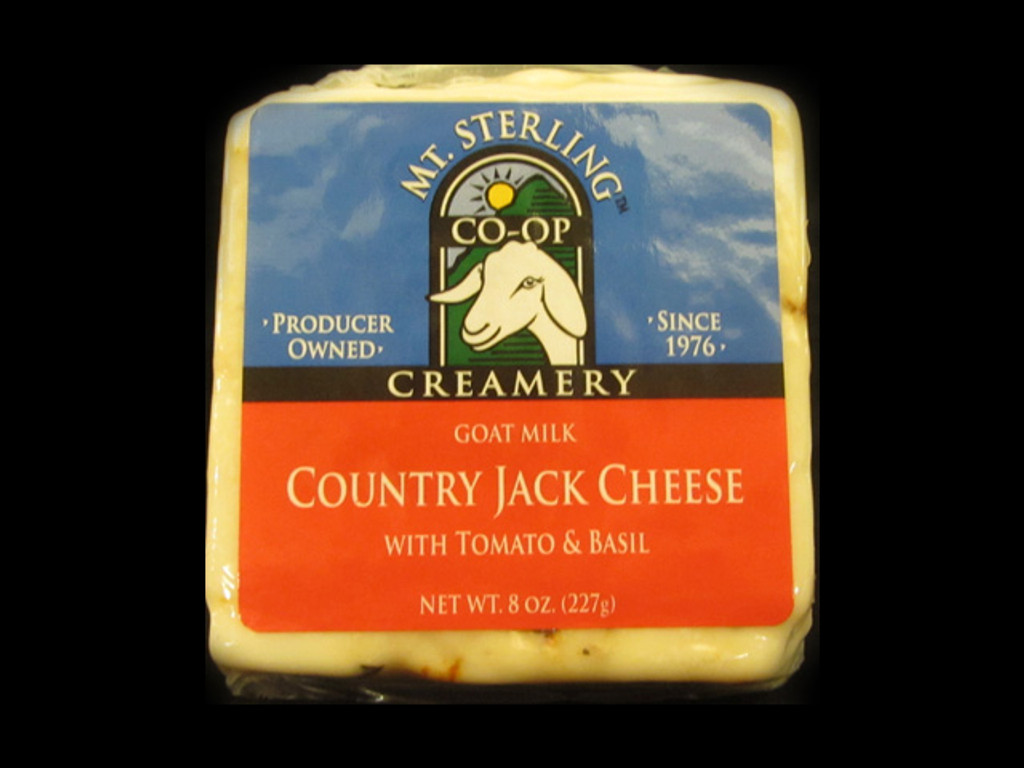 Mt. Sterling Coop Creamery - Country Jack Goat Cheese with Tomato & Basil