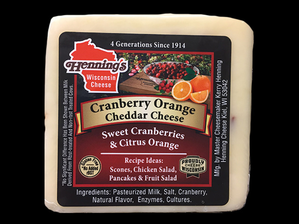 Cranberry Orange Cheddar Cheese