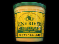 Pine River - Green and Gold Cheddar with Beer Cheese Spread - Large