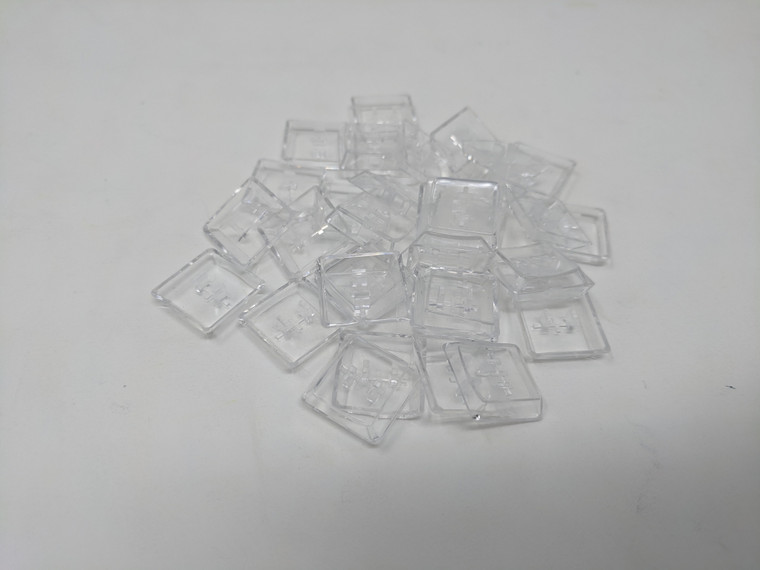 Scooped Kailh Choc Keycaps - Clear