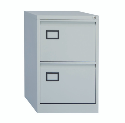 Bisley Grey 2 drawer filing cabinet