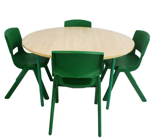 School tables and chairs set, Round school table  Green size chairs