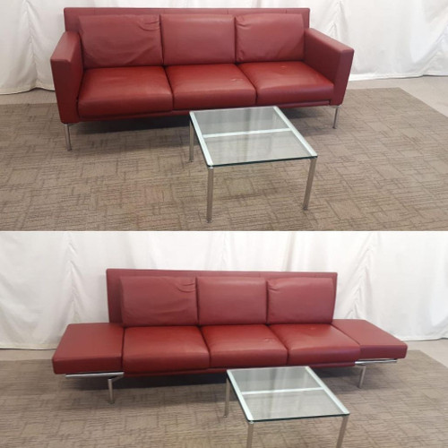 Walter Knoll Sofa in Red Jason 390