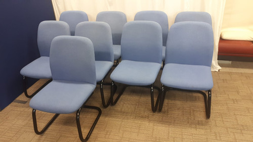 Blue meeting chairs x 9