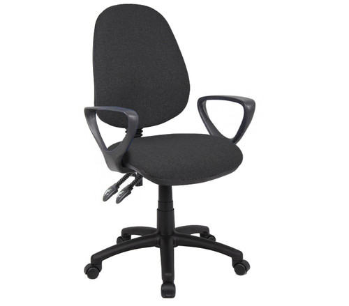 The Vantage 100 fabric chair is the comfortable and affordable, no-nonsense, task office chair which is a highly versatile and suitable for a wide range of different tasks and applications. Available from stock in 5 finishes, the contoured seat, back height and back rake adjustment and adjustable seat height increase sitting ease for long periods of time.