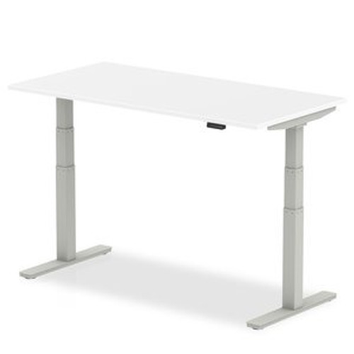 Electric height adjustable desks in white