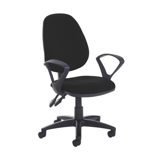 Jota high back PCB operator chair with fixed arms - Havana Black