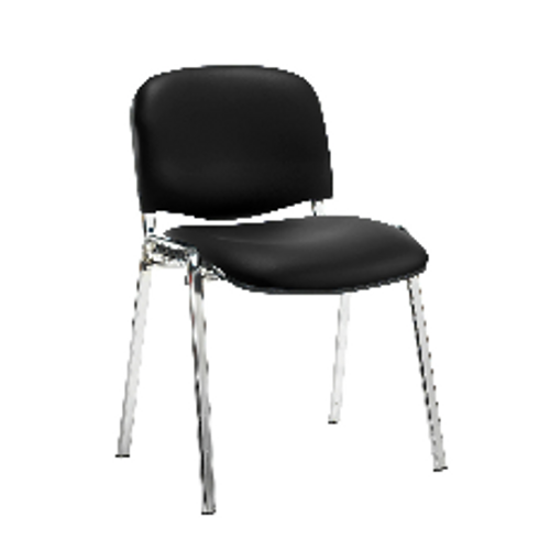 Vinyl meeting or reception chairs with chrome frame