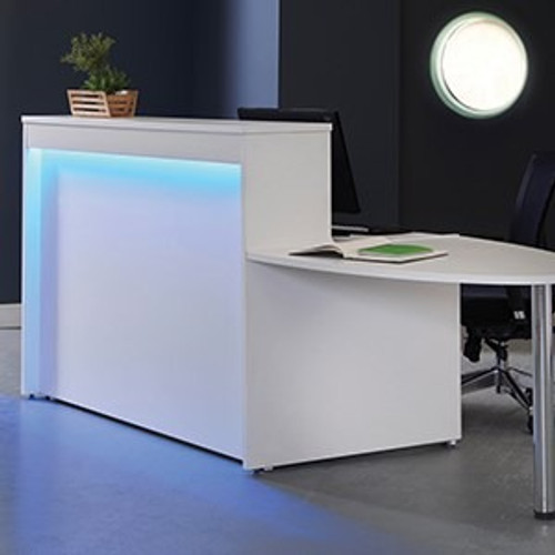 Welcome range reception unit in white with extension and LED lights