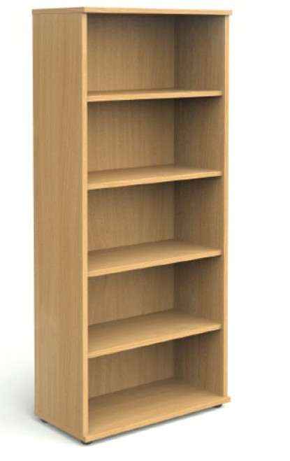 Beech bookcase 2m high with shelves
