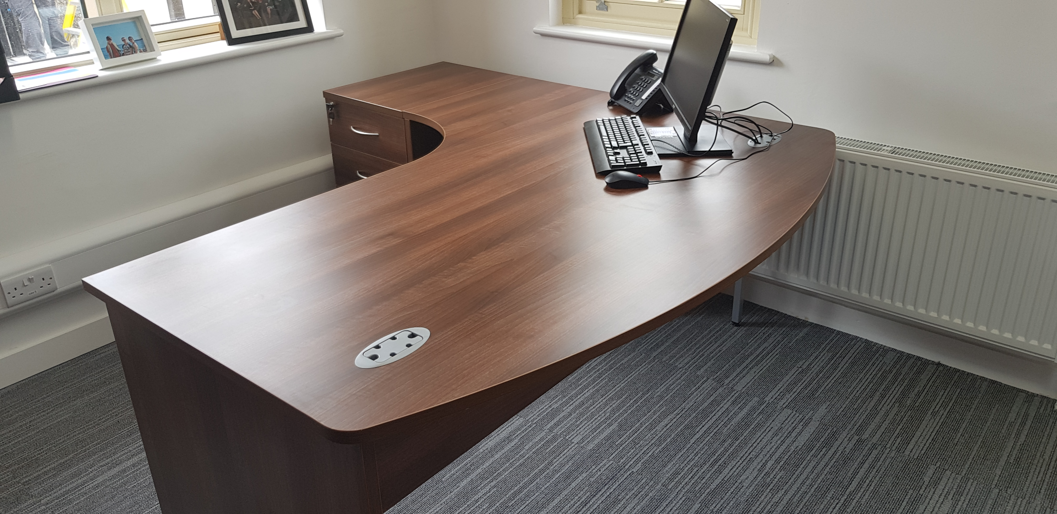 Walnut executive desks