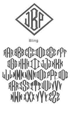 monogram bling