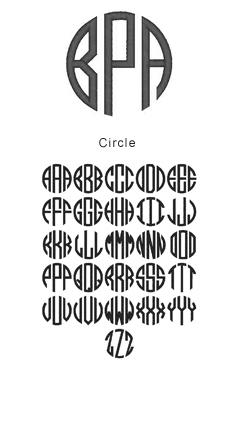 monogram circle 1