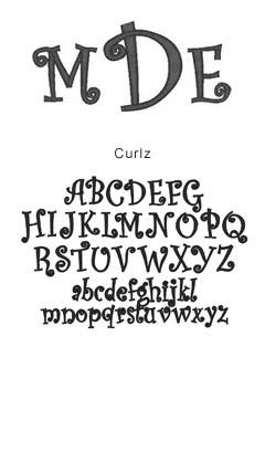 monogram curlz