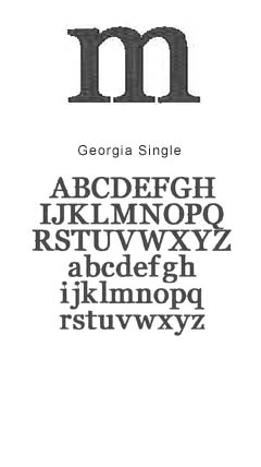 monogram georgia single
