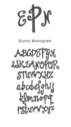 monogram sunny monogram