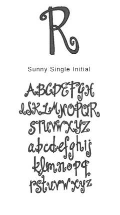 monogram sunny single initial