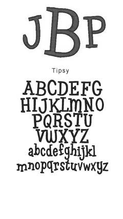 monogram tipsy