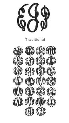 monogram traditional