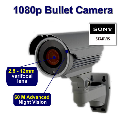 CCTV Bullet Camera 1080p Sony Starvis 60M Night Vision Wide Dynamic Range  for HD TVI CVI AHD Analogue DVR Outdoor