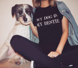 RBLL 'My Dog is My Bestie' Vintage Wash T Shirt (Unisex)
