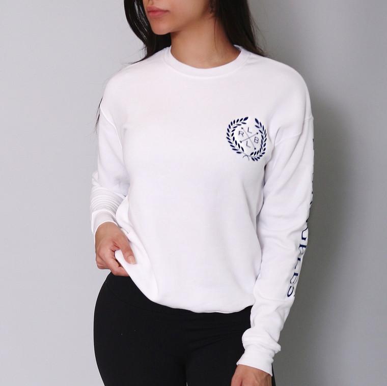 Unisex White 'LOS ANGELES' Crest Sweatshirt