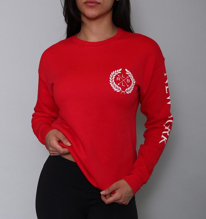 Unisex Red 'NEW YORK Crest' Sweatshirt