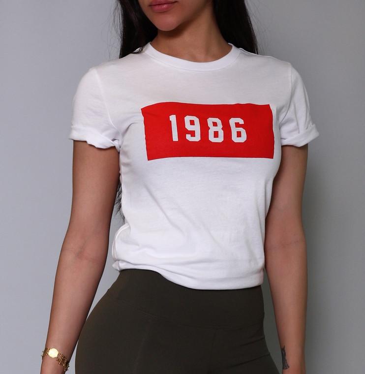 1986 Unisex Roll Sleeve Tee