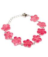 Pink Flower Shell Bracelet