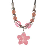 Small Pink Flower Shell Necklace