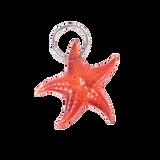 Orange Starfish Key Chain