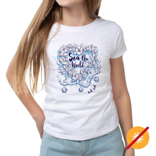 Girls Crew - Sea World - White