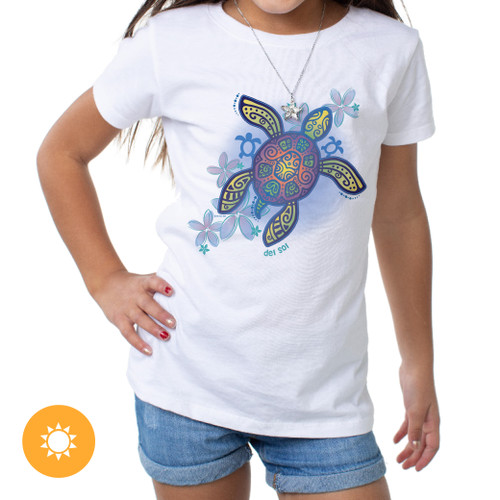 Girls Crew - Honu Girl - White