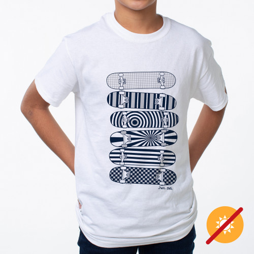 Junior Crew Tee - Skater - White