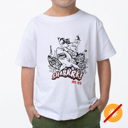 Kid's Crew Tee - Sharrrk! - White