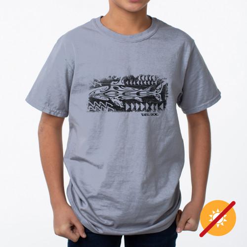 Kid's Crew Tee - Mako Shark - Grey