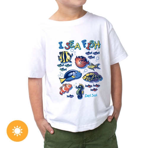 Junior Crew - I Sea Fish - White