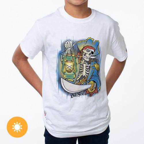 Kid's Crew Tee - Davy Jones - White