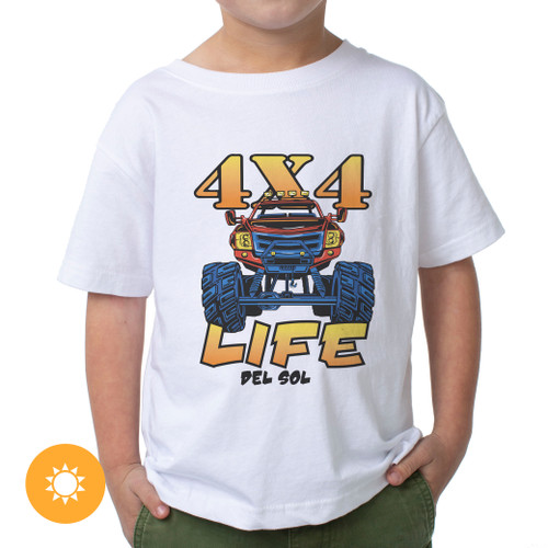Junior Crew - 4X4 Life - White