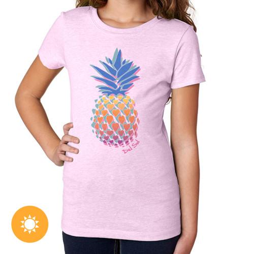 Girl's Crew Tee - Pineapple Love - Lilac