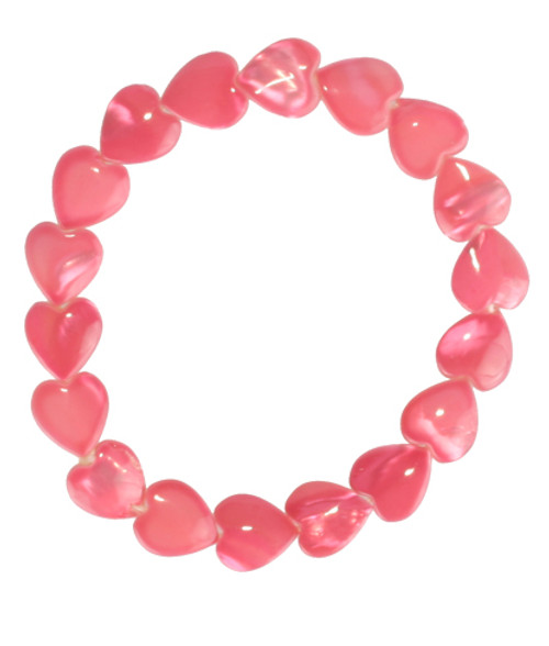 Color-Changing Bracelet - Pink Heart Shell